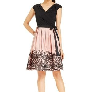 Retro Black and Pink Cocktail Dress
